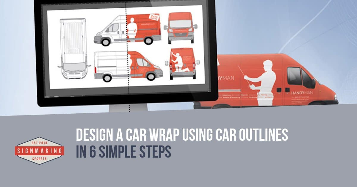 Design a Car Wrap using Car Outlines