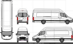 Mercedes Benz Bus Outline