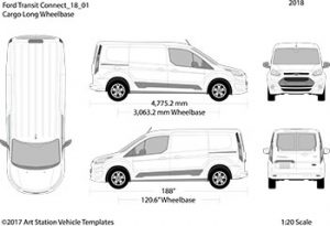 Ford Transit Connect Bus Outline